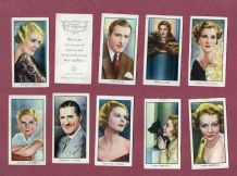 Collectible  cigarette cards set Film Stars / Cinema Celebrities 1935